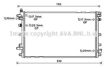 Kühler, Antriebsbatterie AVA QUALITY COOLING OL2653 Bild 1
