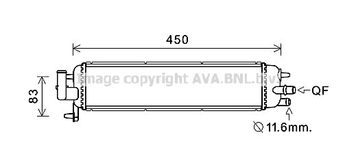 Kühler, Antriebsbatterie AVA QUALITY COOLING PE2382 Bild 1
