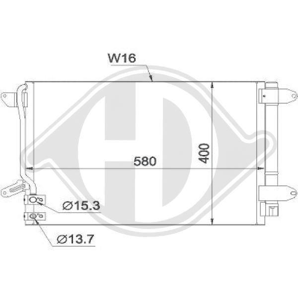 Kondensator, Klimaanlage DIEDERICHS DCC1865