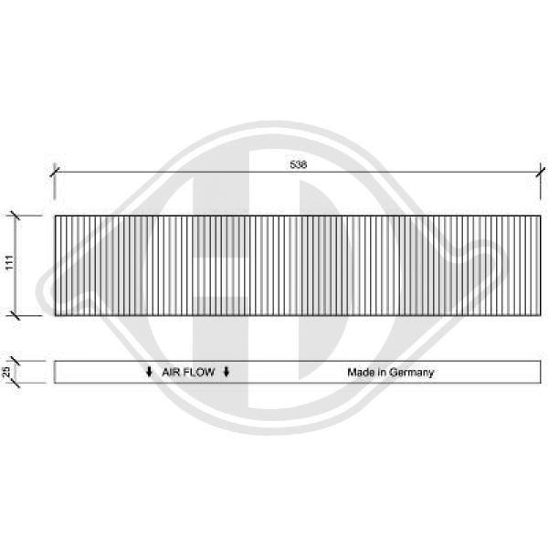 Filter, Innenraumluft DIEDERICHS DCI0020