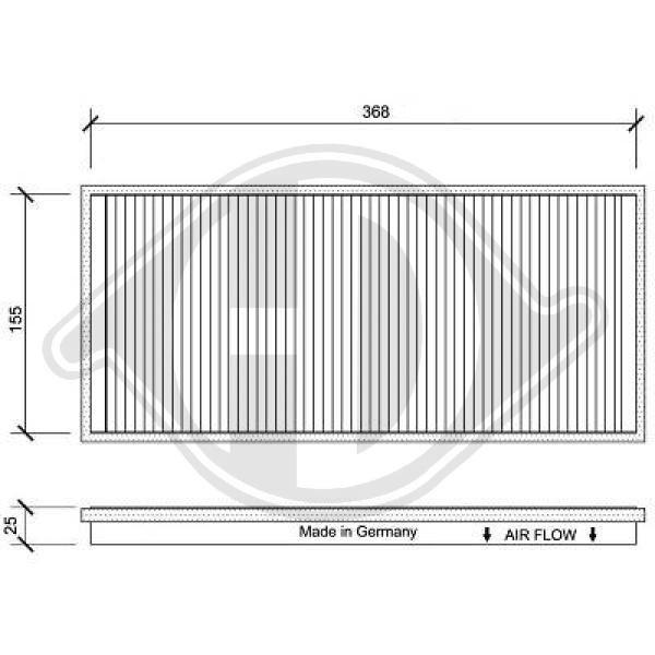 Filter, Innenraumluft DIEDERICHS DCI0025