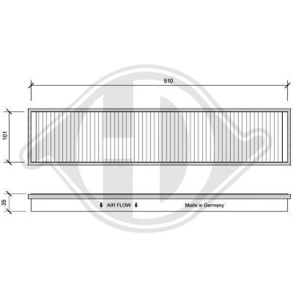 Filter, Innenraumluft DIEDERICHS DCI0058