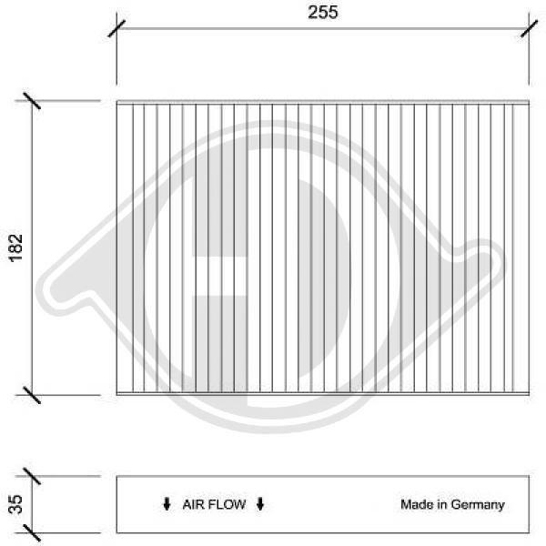 Filter, Innenraumluft DIEDERICHS DCI0227