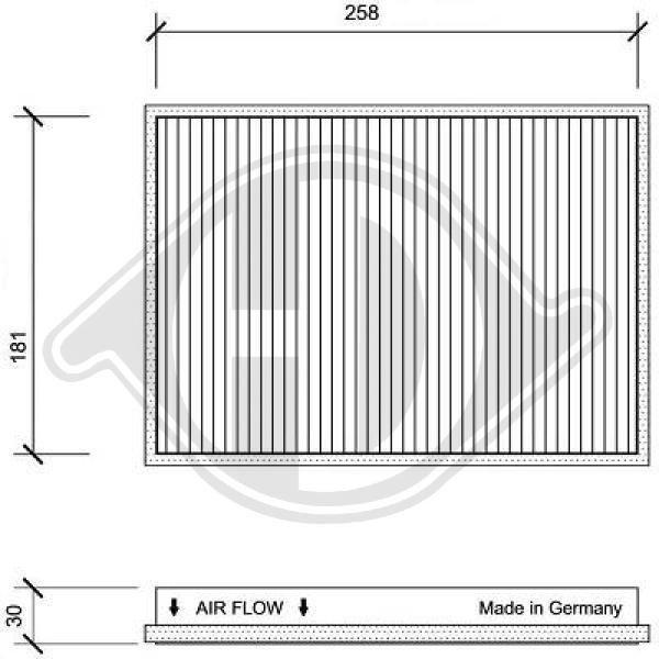 Filter, Innenraumluft DIEDERICHS DCI1021