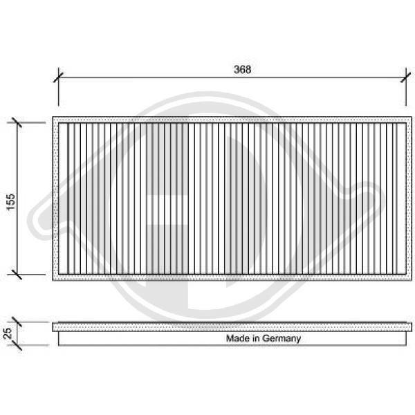 Filter, Innenraumluft DIEDERICHS DCI1025