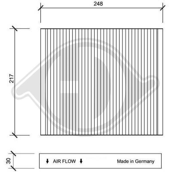 Filter, Innenraumluft DIEDERICHS DCI1063