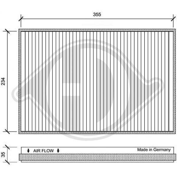 Filter, Innenraumluft DIEDERICHS DCI1151