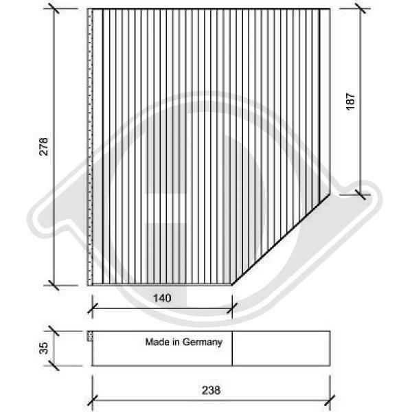 Filter, Innenraumluft DIEDERICHS DCI1163