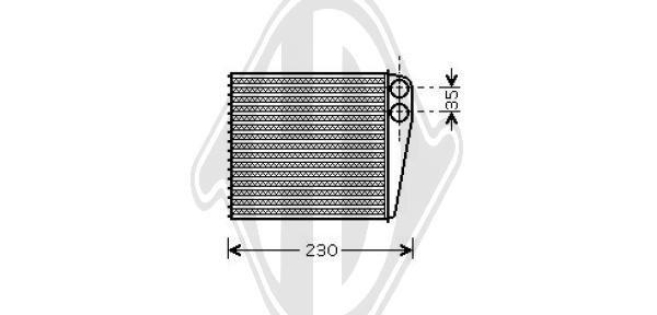 Wärmetauscher, Innenraumheizung DIEDERICHS DCM1251