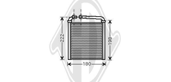 Wärmetauscher, Innenraumheizung DIEDERICHS DCM1253