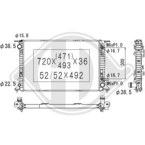 Kühler, Motorkühlung DIEDERICHS DCM1490
