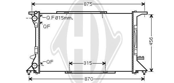 Kühler, Motorkühlung DIEDERICHS DCM1494