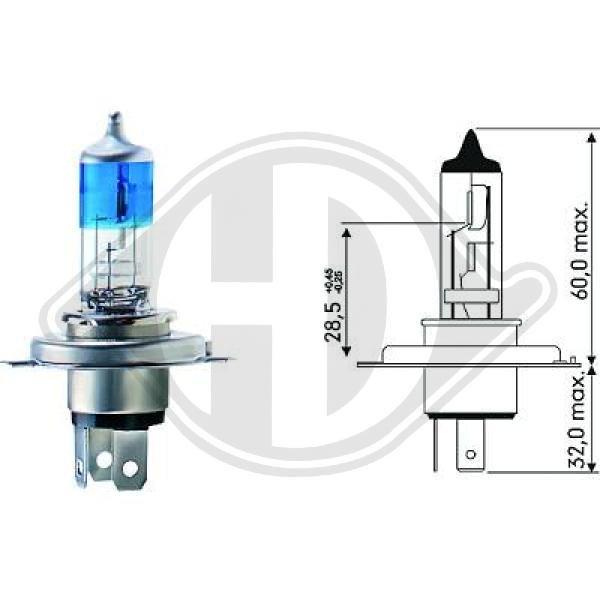 Glühlampe, Fernscheinwerfer 12 V DIEDERICHS LID10011