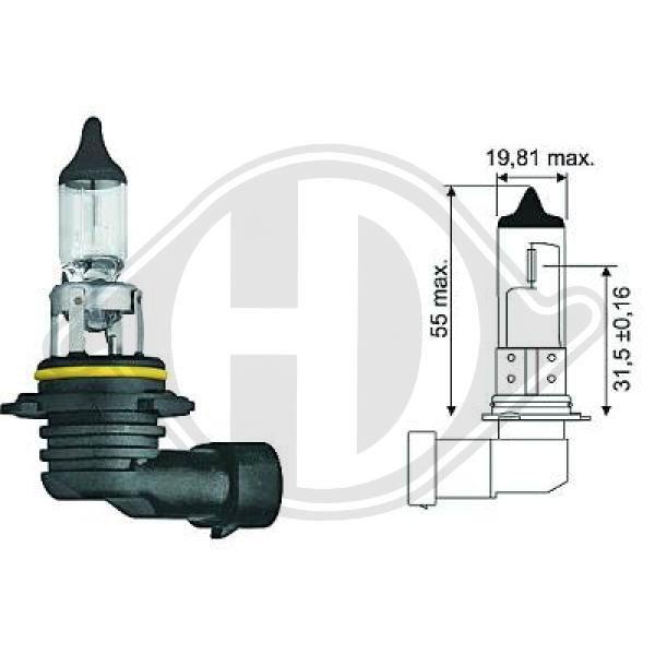 Glühlampe, Fernscheinwerfer 12 V DIEDERICHS LID10030