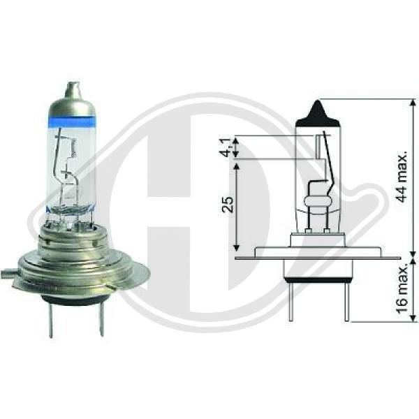 Glühlampe, Fernscheinwerfer 12 V DIEDERICHS LID10063