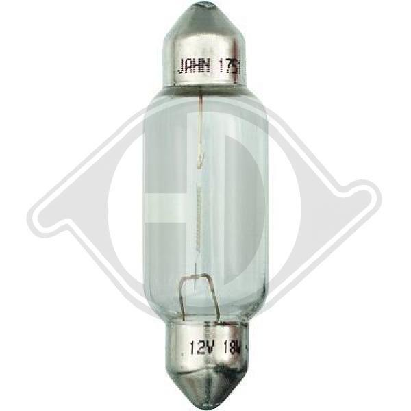 Glühlampe, Kennzeichenleuchte 12 V DIEDERICHS LID10123