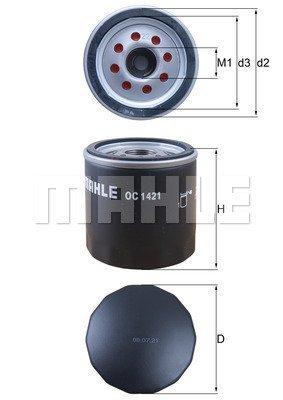 Ölfilter MAHLE OC 1421