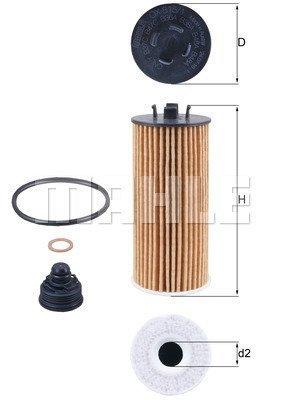 Ölfilter MAHLE OX 815/1D