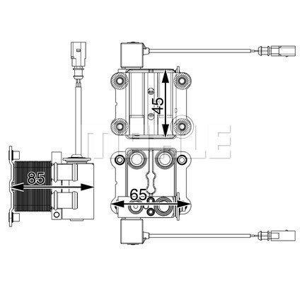 Kühler, Antriebsbatterie MAHLE ACH 1 000P Bild 2