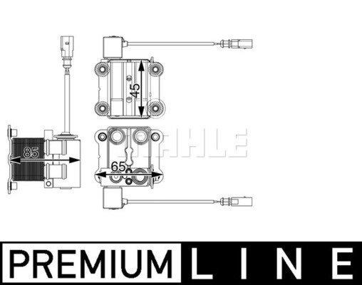 Kühler, Antriebsbatterie MAHLE ACH 1 000P Bild 1