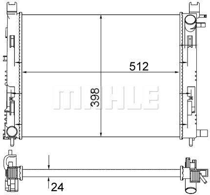 Kühler, Motorkühlung MAHLE CR 2166 001S Bild 1