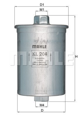 Kraftstofffilter MAHLE KL 204