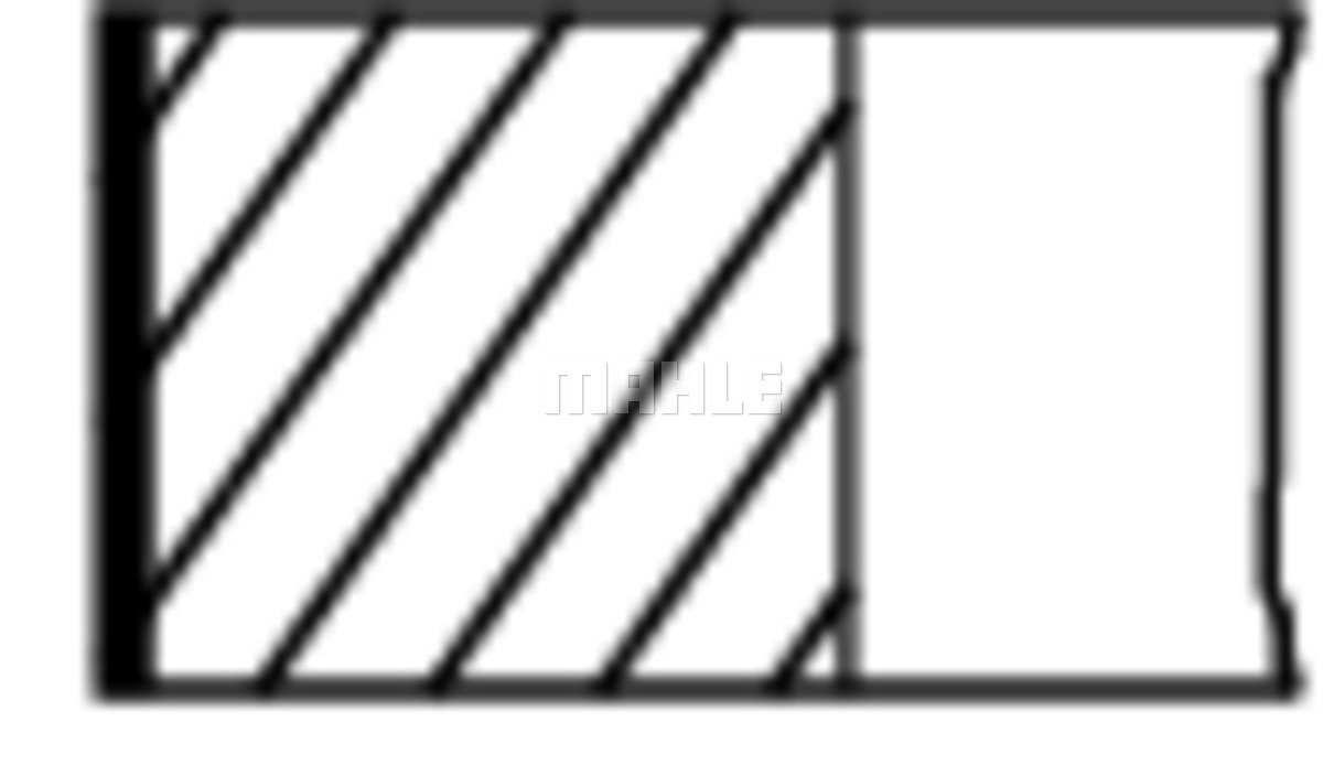 Kolbenringsatz MAHLE 011 RS 00101 0N0