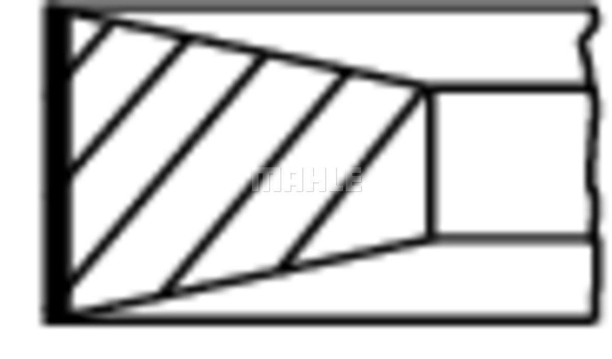 Kolbenringsatz MAHLE 011 RS 10101 0N0