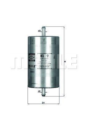 Kraftstofffilter MAHLE KL 9
