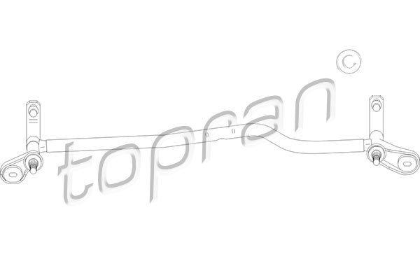 Wischergestänge Fahrzeugfrontscheibe TOPRAN 110 697