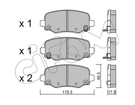 Bremsbelagsatz, Scheibenbremse CIFAM 822-1002-1