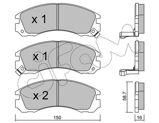 Bremsbelagsatz, Scheibenbremse CIFAM 822-134-0