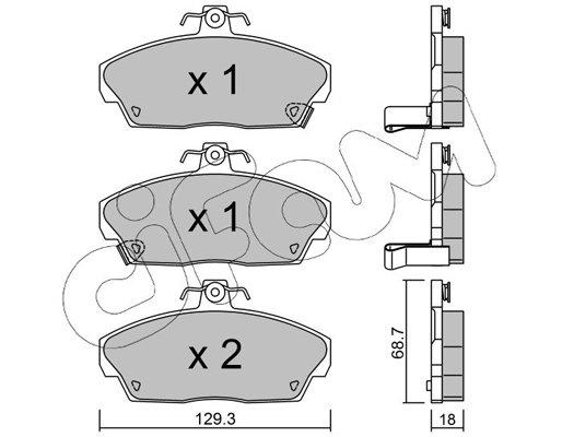 Bremsbelagsatz, Scheibenbremse CIFAM 822-174-0