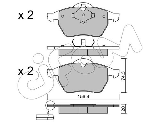 Bremsbelagsatz, Scheibenbremse CIFAM 822-181-2
