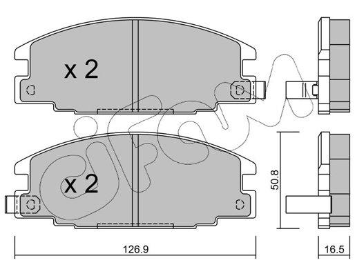 Bremsbelagsatz, Scheibenbremse CIFAM 822-244-0