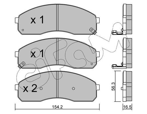 Bremsbelagsatz, Scheibenbremse CIFAM 822-374-0