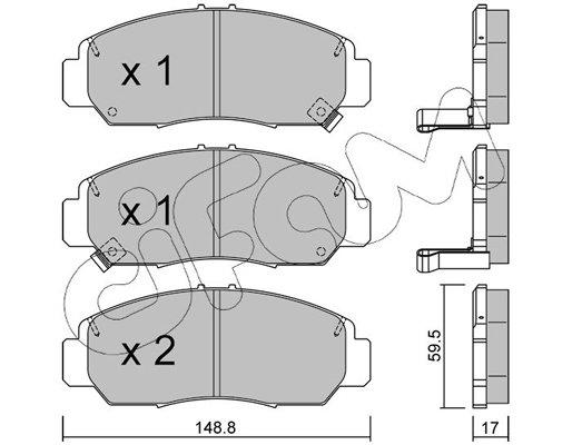 Bremsbelagsatz, Scheibenbremse CIFAM 822-462-0