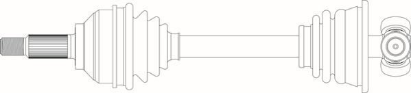 Antriebswelle Vorderachse links GENERAL RICAMBI RE3323