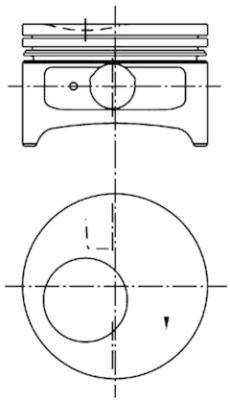 Kolben KOLBENSCHMIDT 97286600 mm mm Bolzen-Ø Bohrung-Ø