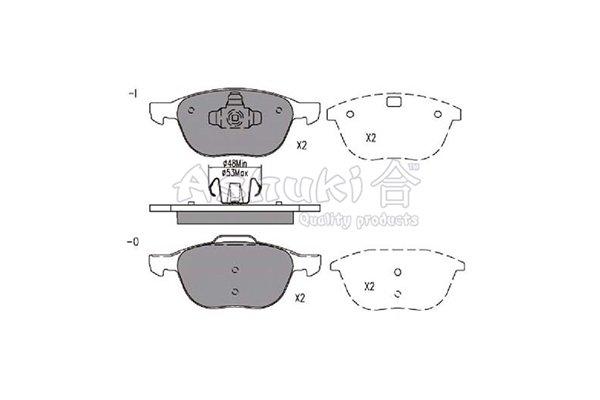 Bremsbelagsatz, Scheibenbremse Vorderachse ASHUKI 1080-3603