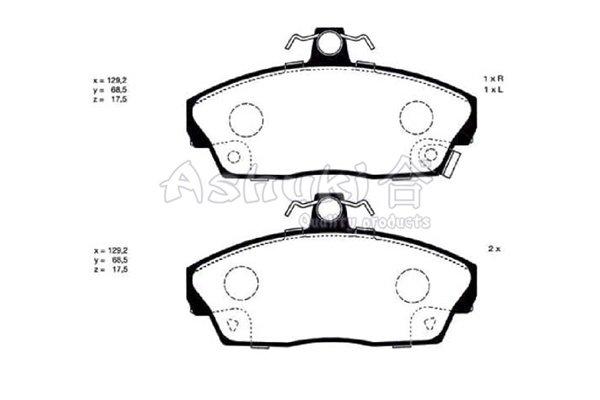 Bremsbelagsatz, Scheibenbremse Vorderachse ASHUKI H025-17