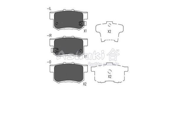 Bremsbelagsatz, Scheibenbremse Hinterachse ASHUKI H026-22