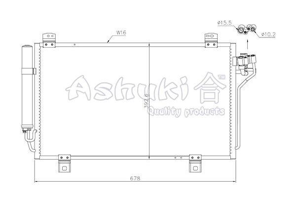 Kondensator, Klimaanlage ASHUKI M981-72