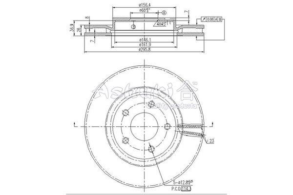 Bremsscheibe Vorderachse ASHUKI N014-22