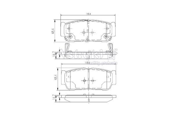 Bremsbelagsatz, Scheibenbremse Hinterachse ASHUKI SY015-20