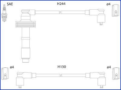 Zündleitungssatz HITACHI 134549