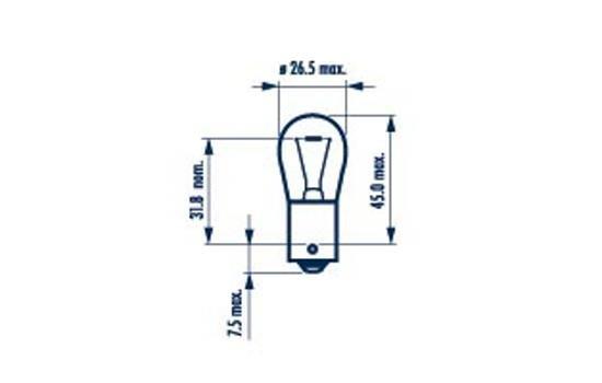 Glühlampe, Bremsleuchte 24 V NARVA 17521