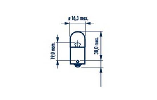 Glühlampe, Kennzeichenleuchte 24 V NARVA 17328