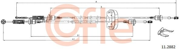 Seilzug, Schaltgetriebe COFLE 11.2882