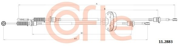 Seilzug, Schaltgetriebe COFLE 11.2883